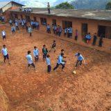 「サッカーグラウンド」 娯楽の無かった村でサッカーができるようになりました。